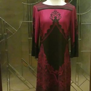 """""""Beige by eci""""  Knit Dress Wine and Black Colors"""